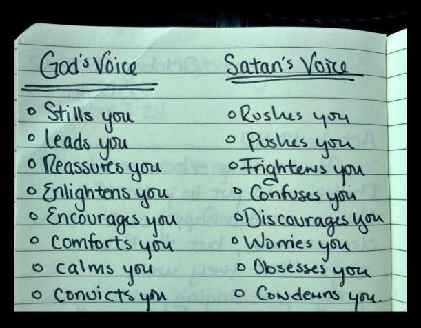 Gods Voice vs Satan