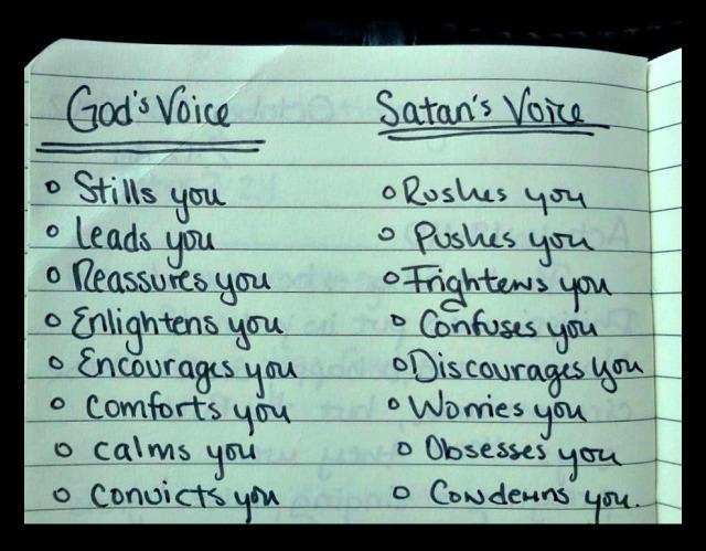 Gods Voice vs Satan