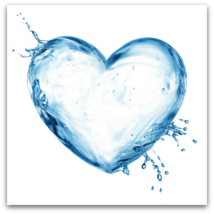 7-25-13 - glass of water - Heart
