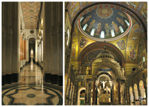 Mosaics cover almost every inch of the ceiling and many of the walls of the church's interior. Started in 1908, completion of the cathedral's mosaics was not accomplished until 1988