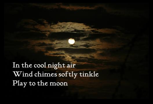 Night of Windchimes - Haiga