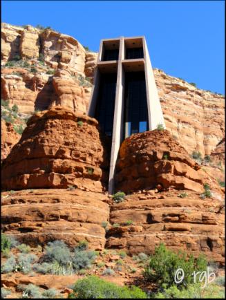 Chapel of Holy Cross - from outside Sedona, AZ