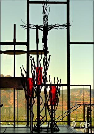 Chapel of Holy Cross - from inside Sedona, AZ