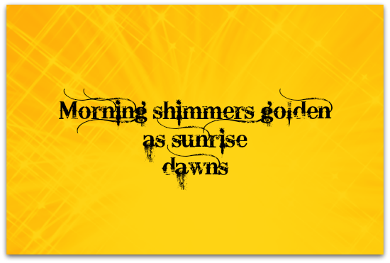 Morning Shimmers