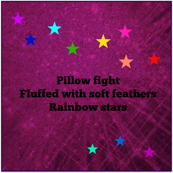 Fluffy Rainbow Haiga